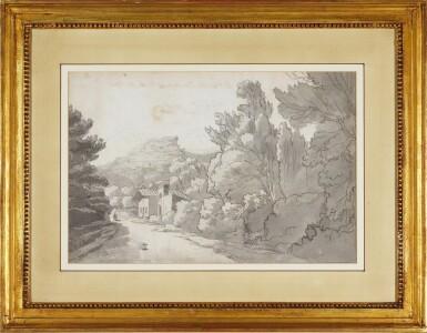 View 2. Thumbnail of Lot 596. FRANCIS TOWNE | A view of a Hermitage at Rocca di Papa, near Lake Albano,Italy.