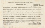 Sylvia Plath   Document signed, authorising the BBC broadcast of 'Three Women', 9 June 1962