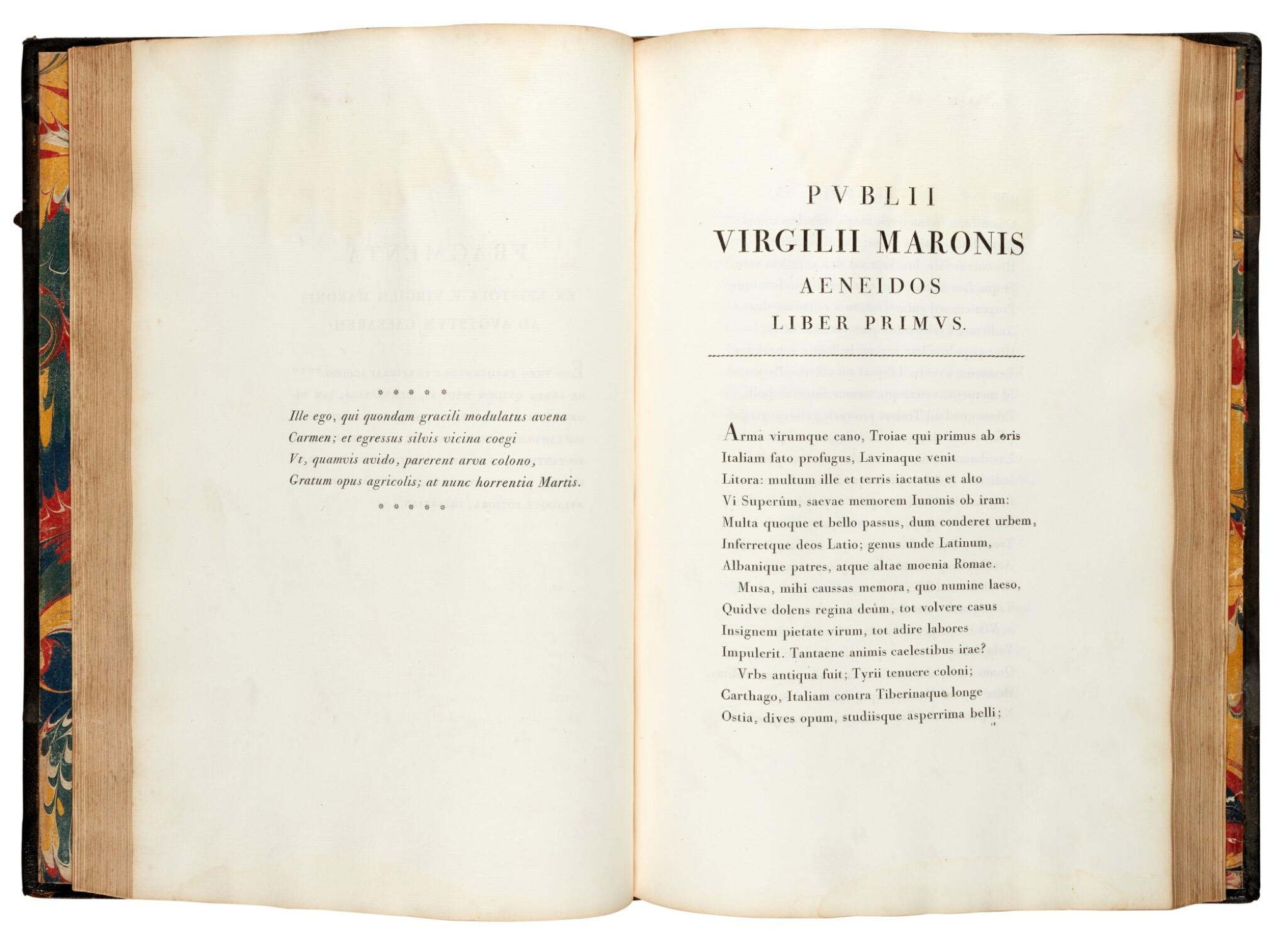View full screen - View 1 of Lot 260. Vergil, Opera, Parma, Bodoni, 1793, 2 volumes, half black morocco.