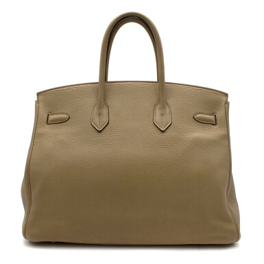 View 3. Thumbnail of Lot 31. HERMÈS | CARDAMOME BIRKIN 35 IN TAURILLION CLEMENCE LEATHER WITH GOLD HARDWARE, 2008.