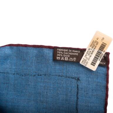 "View 4. Thumbnail of Lot 25. Hermès ""Pirouette au Galop"" Cashmere and Silk Shawl 140cm."