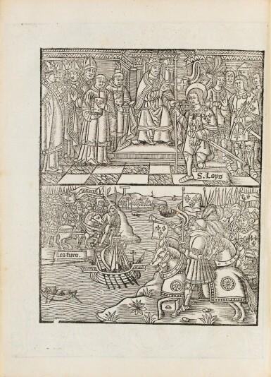 View 4. Thumbnail of Lot 196. LA SALE. La Salade... de tous les pays du monde. Philippe le Noir, 1527. Petit in-folio. Rare seconde édition.