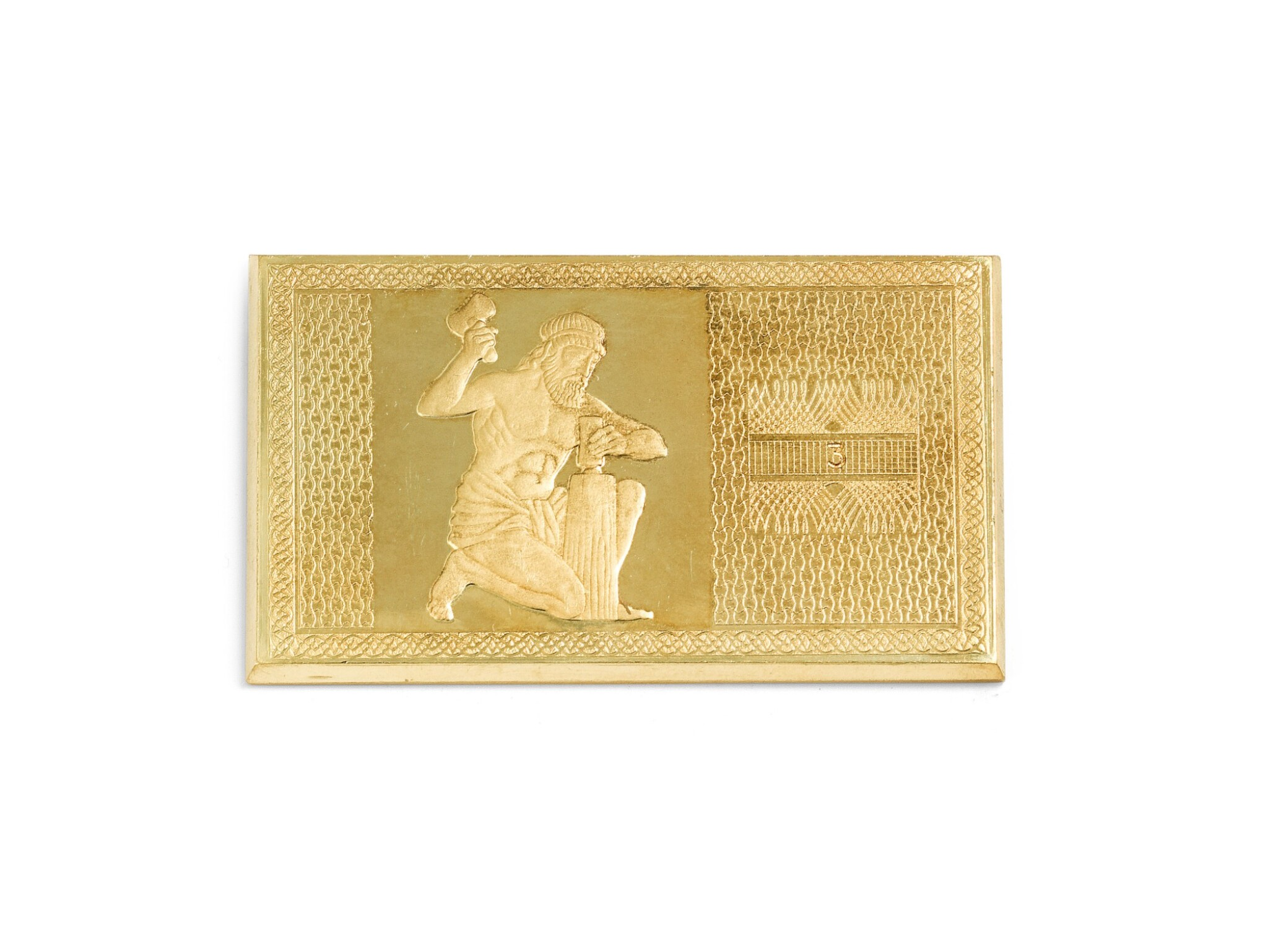 View full screen - View 1 of Lot 181. Gold plate [Plaque en or], 1975.