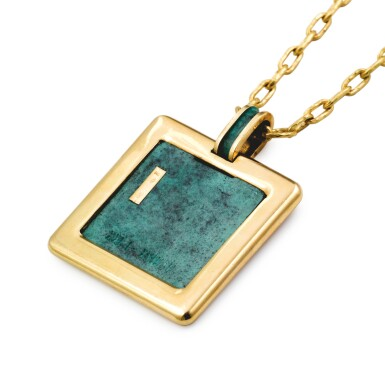 Gold and resin necklace |Collier or et résine]