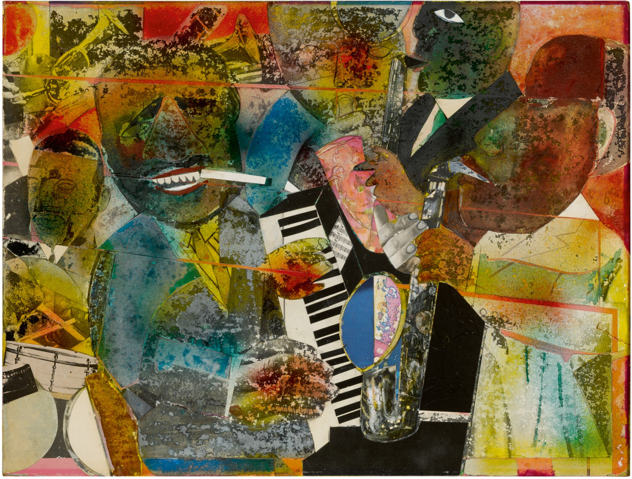 View full screen - View 1 of Lot 3. ROMARE BEARDEN |  VAMP TIME - CHICAGO (OF THE BLUES).