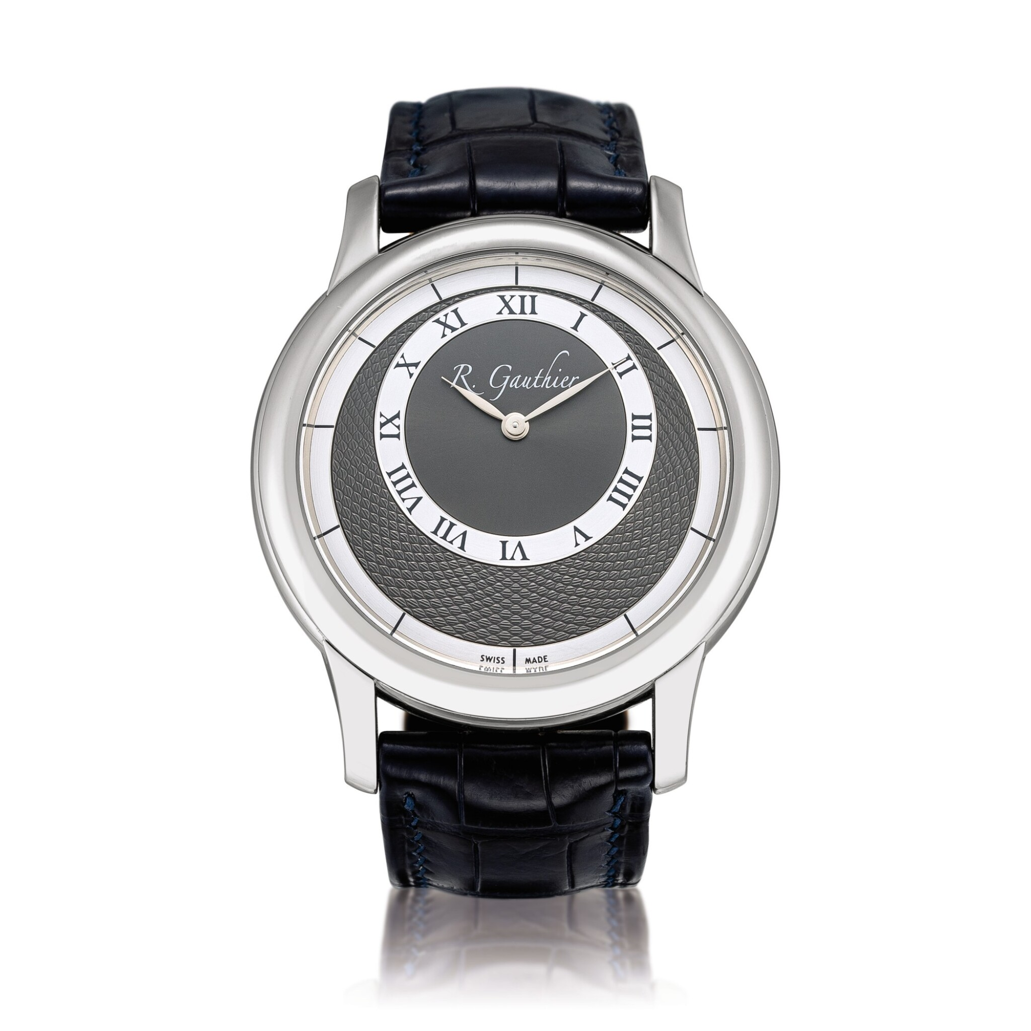 View full screen - View 1 of Lot 2222. Romain Gauthier   Prestige HM, A limited edition platinum wristwatch, Circa 2007   Prestige HM  限量版鉑金腕錶,約2007年製.