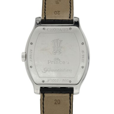 View 3. Thumbnail of Lot 45.  CHOPARD | REF 16/2235, A LIMITED EDITION WHITE GOLD AUTOMATIC WRISTWATCH MADE FOR THE PRINCE'S FOUNDATION.