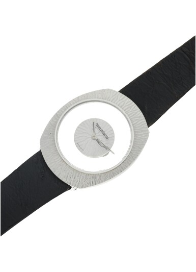 View 6. Thumbnail of Lot 58. REFERENCE 17007 A WHITE GOLD OVAL MYSTERY WATCH, CIRCA 1965.