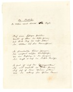 "N. Lenau. Four autograph poetical manuscripts and one letter signed (""Niembsch"" and ""Nikolaus Lenau""), c.1837-1842"