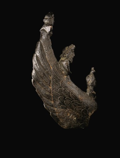 A GALLO-ROMAN BRONZE LEFT WING FROM A LARGE PANTHEISTIC FIGURE, 2ND/3RD CENTURY A.D.