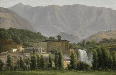 View 1. Thumbnail of Lot 67. JEAN-JOSEPH-XAVIER BIDAULD | VIEW OF THE ISOLA DI SORA.