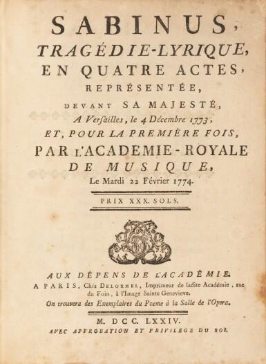 View 2. Thumbnail of Lot 91. 2 livrets d'opéra aux armes de la comtesse de Provence..
