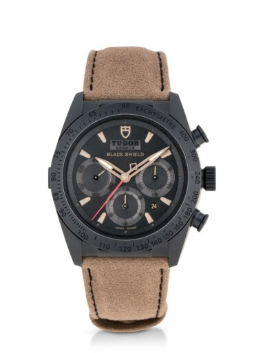 TUDOR | FASTRIDER BLACK SHIELD, REF 42000C CERAMIC AND STAINLESS STEEL CHRONOGRAPH WRISTWATCH WITH DATE CIRCA 2015