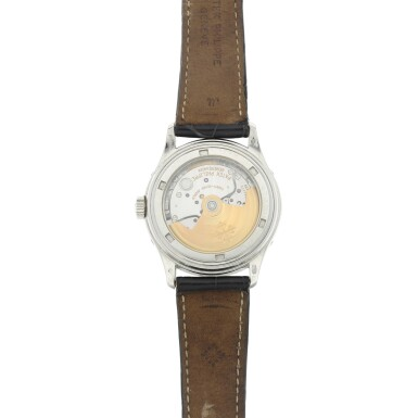 View 4. Thumbnail of Lot 160. REFERENCE 5056 A PLATINUM ANNUAL CALENDAR WRISTWATCH WITH MOON PHASES AND POWER RESERVE INDICATION, MADE IN 2000.