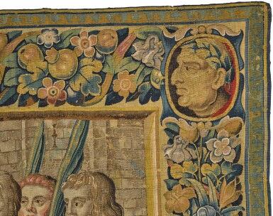 View 3. Thumbnail of Lot 17. A Triumph Classical Tapestry, Northern Netherlands,  third quarter 17th century .