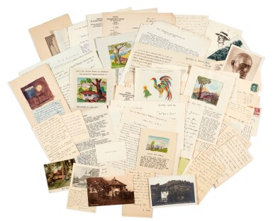View 1. Thumbnail of Lot 62. Hermann Hesse | Highly important series of 62 letters and postcards to Stefan Zweig, 1903-1938.