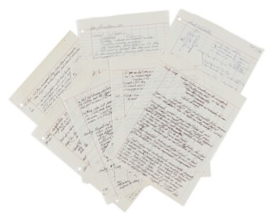 View 3. Thumbnail of Lot 81. Richard Feynman's notes, letters, & et al from the Rogers Commission to Investigate the Challenger disaster, 1986..