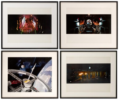 2001: A SPACE ODYSSEY (1968) FOUR OVERSIZED STILLS, US