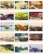 À la gloire de l'image.... Barcelone, 1977. 15 lithographies en couleurs. Edition originale.