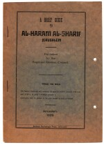Al-Haram Al-Sharif (Temple Mount). A brief guide. Jerusalem. 1929