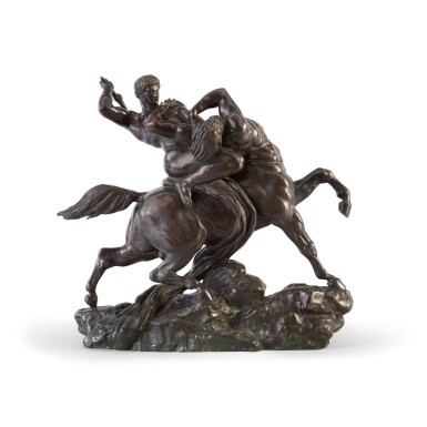 View 1. Thumbnail of Lot 36. ANTOINE-LOUIS BARYE | THESEUS FIGHTING THE CENTAUR BIANOR.
