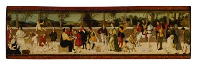 The Seven Ages of Man, a cassone panel