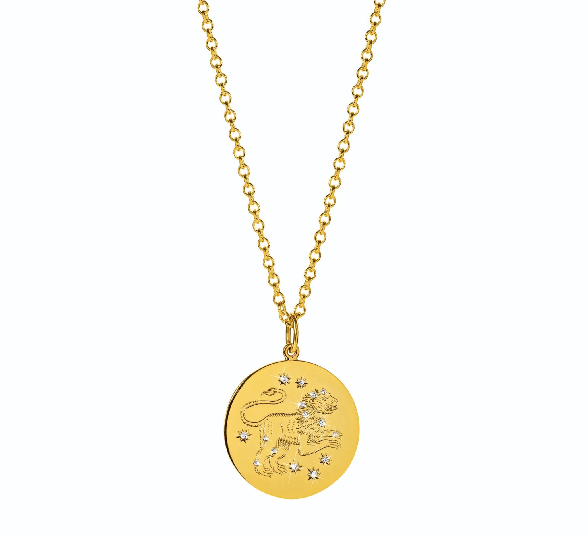 View full screen - View 1 of Lot 11. Verdura | 18 Karat Gold and Diamond 'Zodiac' Pendant-Necklace.