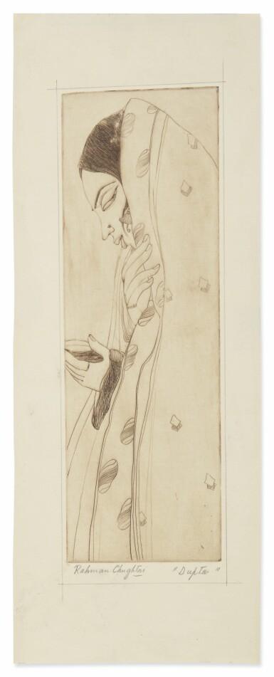 View 4. Thumbnail of Lot 1802. ABDUR RAHMAN CHUGHTAI | KASHMIRI WOODCUTTER; DUPTA (SIC).