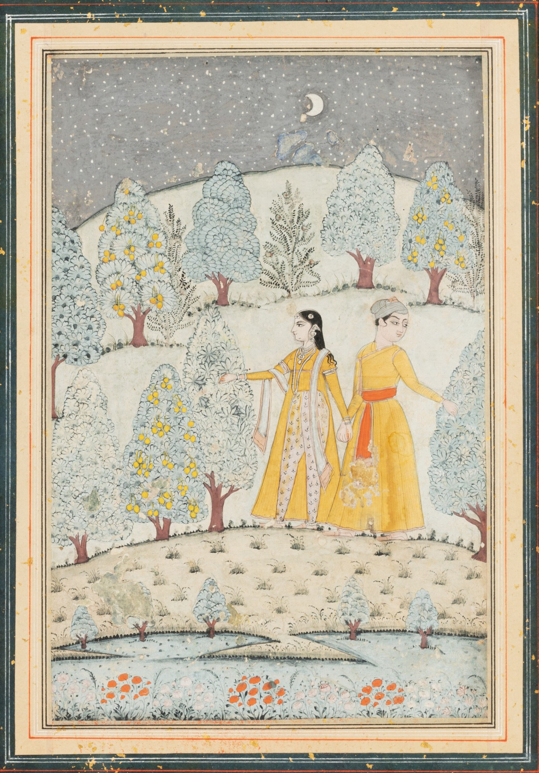 View full screen - View 1 of Lot 70. INDE, RAJASTHAN AND PAHARI SCHOOLS, 19TH CENTURY   A DRAWING AND THREE MINIATURES.