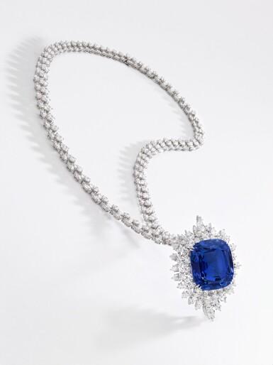 View 4. Thumbnail of Lot 173. Harry Winston | Impressive sapphire and diamond necklace | 海瑞溫斯頓 | 藍寶石配鑽石項鏈.