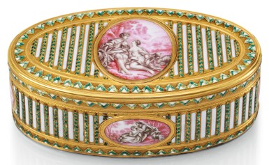 A GOLD AND ENAMEL SNUFF BOX, 19TH CENTURY