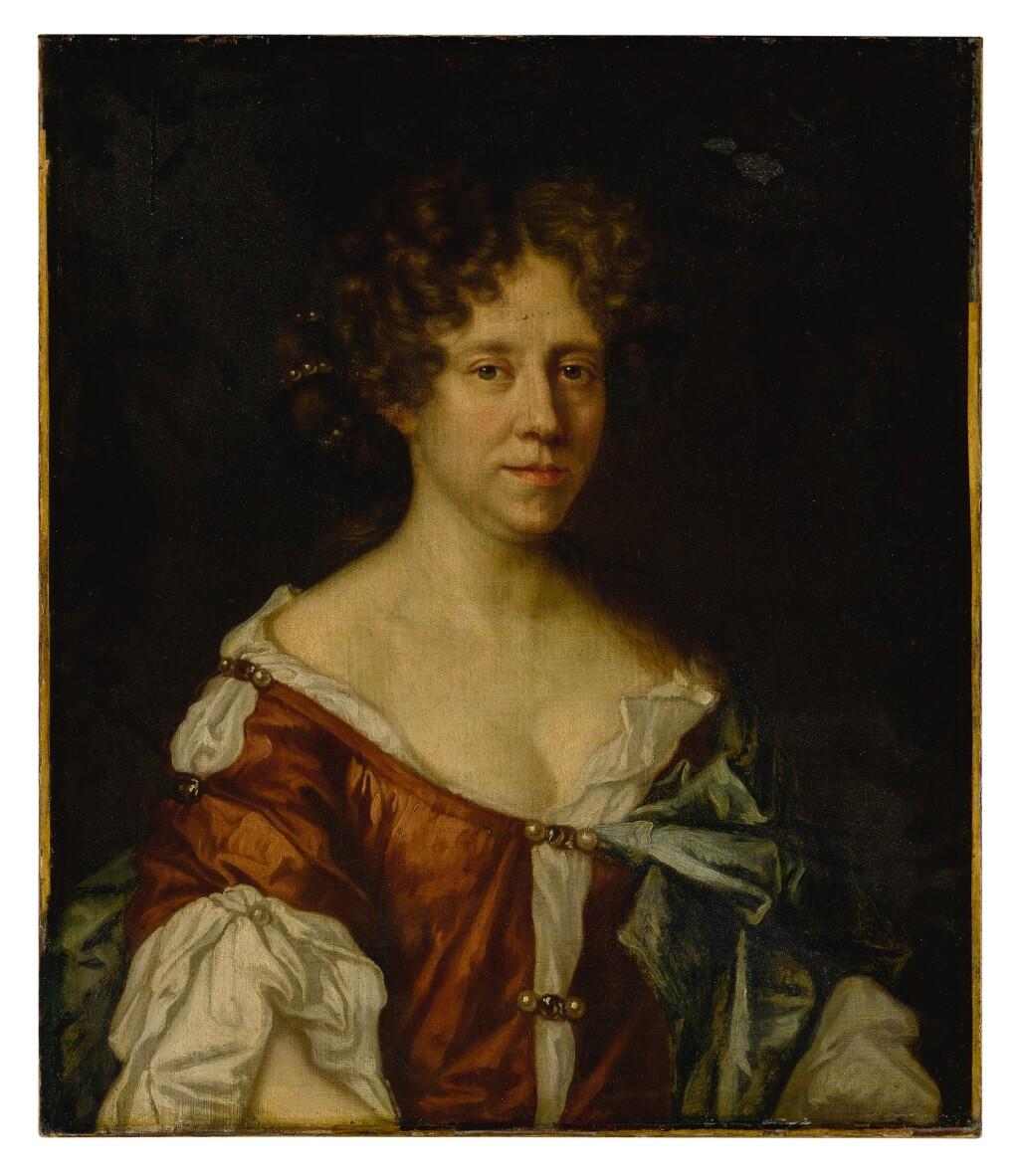 BRITISH SCHOOL, 17TH CENTURY   PORTRAIT OF A LADY, HALF LENGTH