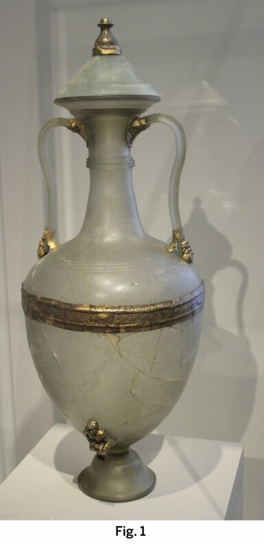 View 5. Thumbnail of Lot 37. The Eugene and Elva Bernat white-glazed 'Amphora' vase Tang dynasty | 唐 白釉雙龍耳瓶.