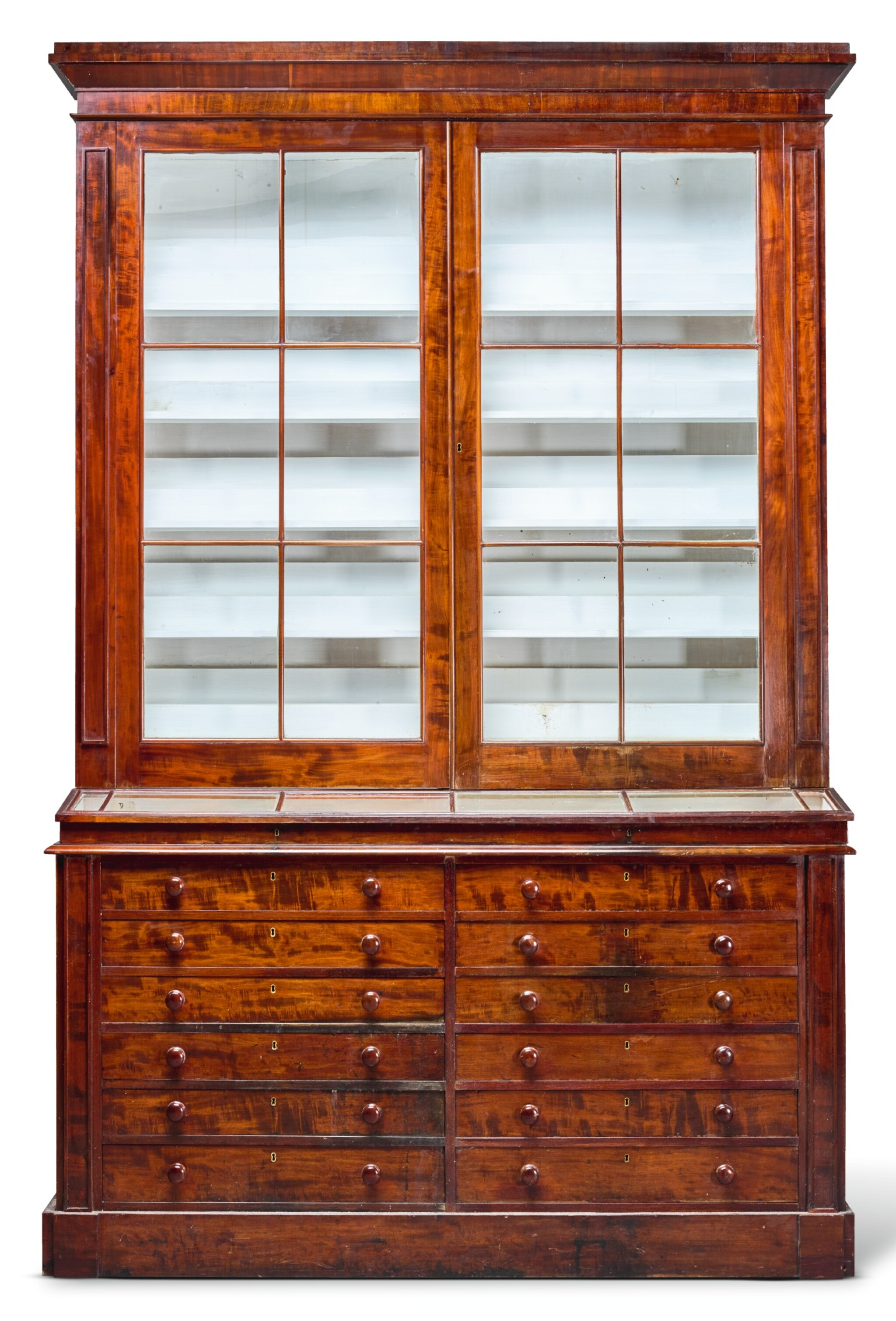 View full screen - View 1 of Lot 217.  A WILLIAM IV MAHOGANY MUSEUM CABINET, CIRCA 1835.