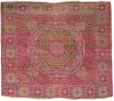 View 1. Thumbnail of Lot 448. A MAMLUK CARPET, EGYPT, PROBABLY CAIRO, SECOND HALF 15TH CENTURY OR EARLY 16TH CENTURY.