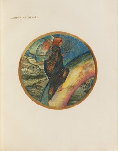 View 2. Thumbnail of Lot 142. The Flower Book. London, 1905. EO à 300 ex., 38 planches en couleurs. Petit in-folio, maroquin vert..