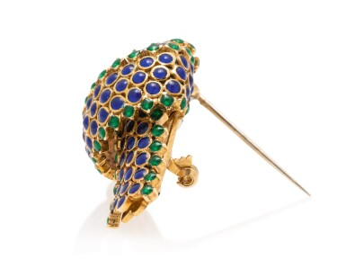 View 3. Thumbnail of Lot 21. TIFFANY & CO.   GOLD AND ENAMEL BROOCH.