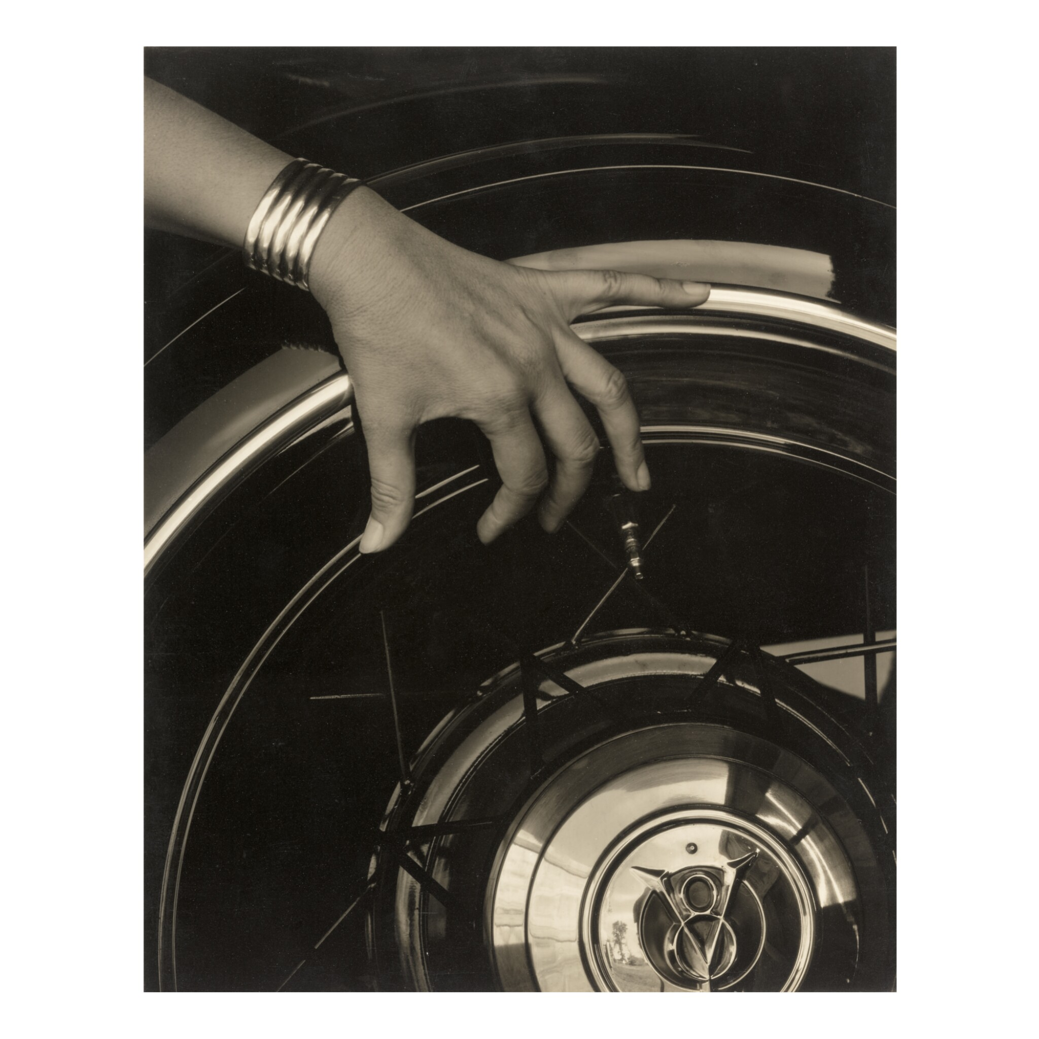 View full screen - View 1 of Lot 35. ALFRED STIEGLITZ  |  GEORGIA O'KEEFFE - HAND AND WHEEL.