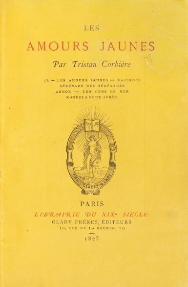 View 1. Thumbnail of Lot 85. Les Amours jaunes. 1873. In-12. Ex. sur papier jonquille en reliure signée de l'époque.