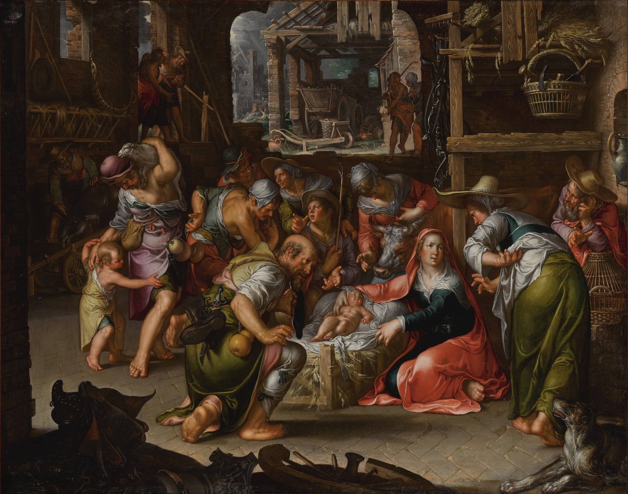 View full screen - View 1 of Lot 144. Adoration of the Shepherds         .