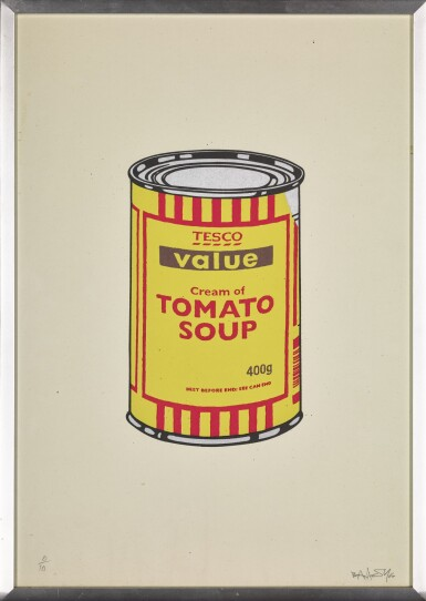 View 2. Thumbnail of Lot 24. BANKSY   SOUP CAN (YELLOW AND RED).