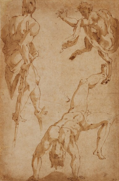 MARCO MARCHETTI, CALLED MARCO DA FAENZA | Studies of acrobats