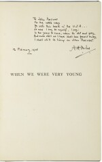 MILNE, A.A.   When We Were Very Young. London, Methuen, (1925, tenth edition)