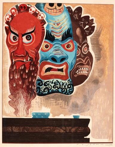 View 3. Thumbnail of Lot 101. Schmied and Kipling. Kim. 1930. 2 volumes. 4to. modern tan morocco.