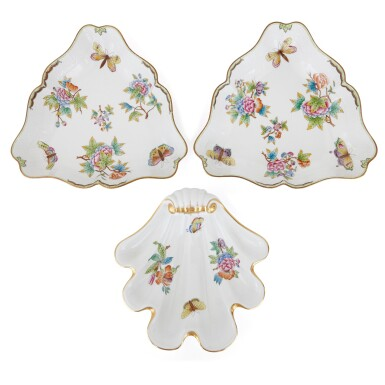 """View 3. Thumbnail of Lot 2. AN EXTENSIVE HEREND PORCELAIN """"VICTORIA"""" PATTERN COMPOSITE PART DINNER AND DESSERT SERVICE, 20TH CENTURY."""