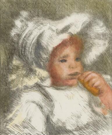 View 1. Thumbnail of Lot 139. L'Enfant au Biscuit (Jean Renoir) (D., S. 31).