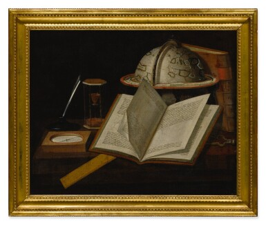 BRITISH SCHOOL, CIRCA 1700 | A STILL LIFE OF VARIOUS SCIENTIFIC OBJECTS RELATED TO THE MEASUREMENT OF TIME AND NAVIGATION