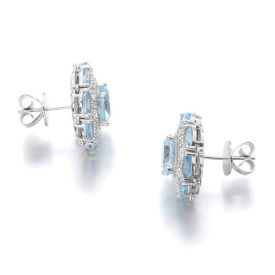 View 3. Thumbnail of Lot 131. JAMES GANH | PAIR OF TOPAZ AND DIAMOND EARRINGS.