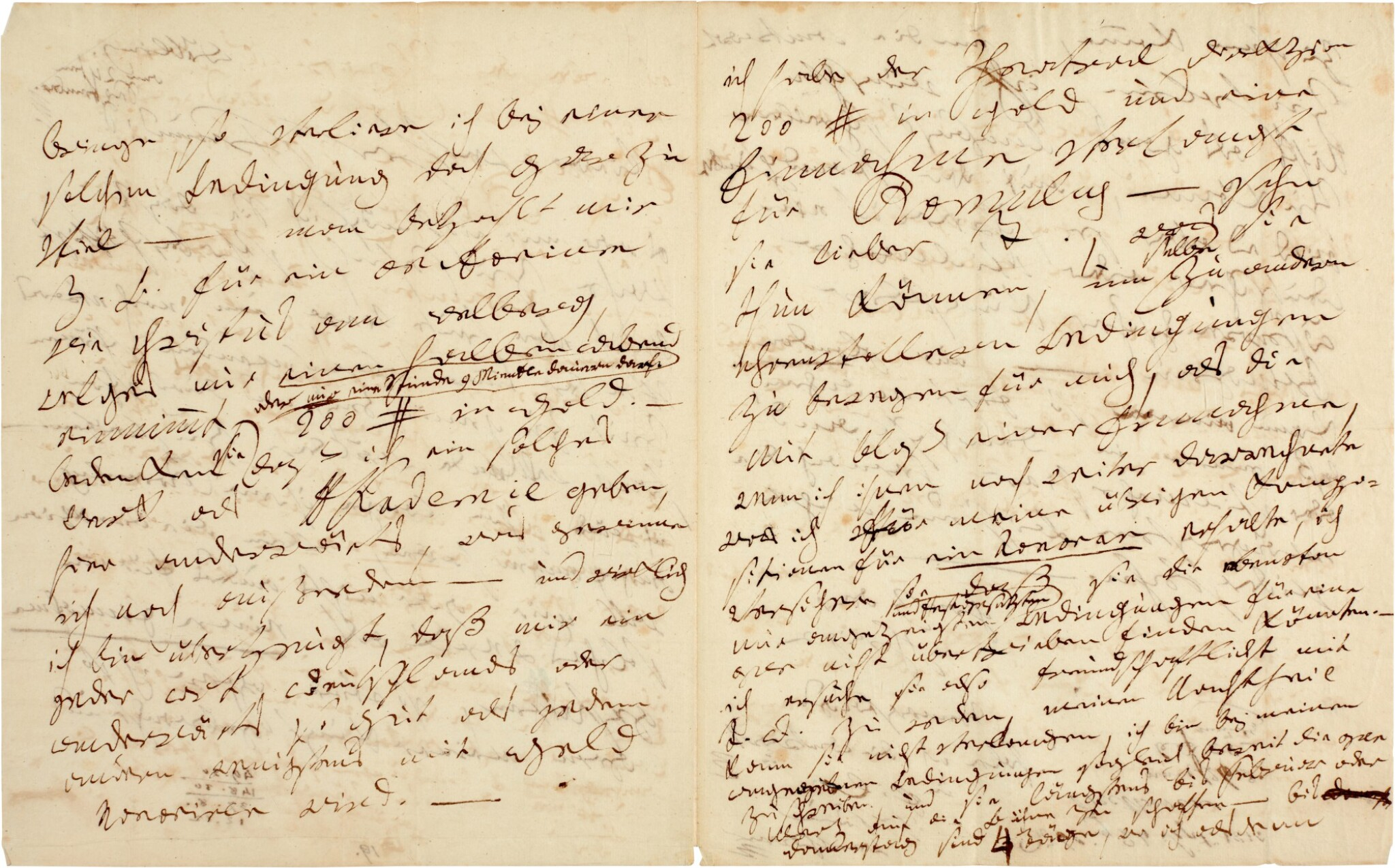 L. v. Beethoven. Fine autograph letter to his librettist Friedrich Treitschke, about their planned opera, 1815