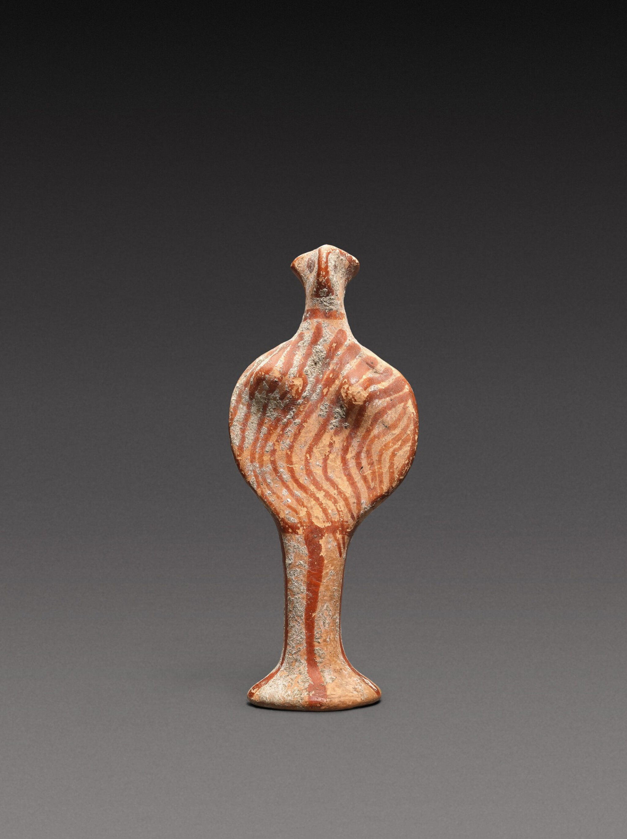 View full screen - View 1 of Lot 32. A Mycenaean Terracotta Figure of a Goddess, circa 1400-1300 B.C..